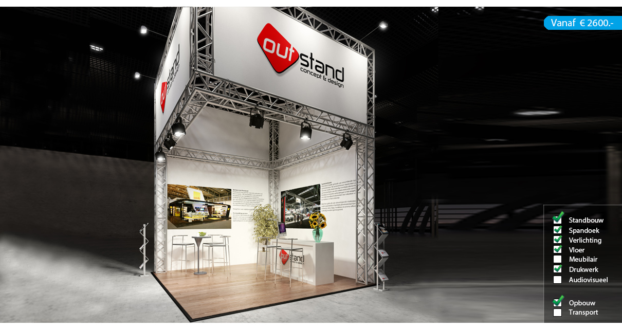 Carré 4x4 met opstand - Outstand
